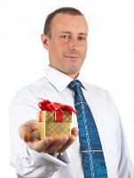 Man giving gift