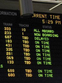 Delayed and on time