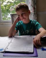 boy homework