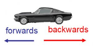 car forwards and backwards