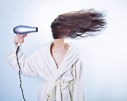 drying hair