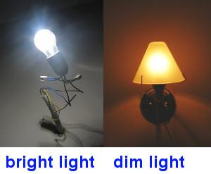 bright light and dim light