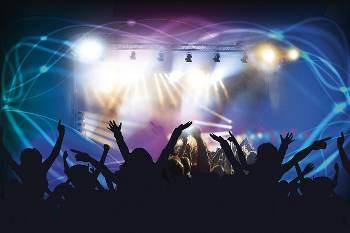 at a concert