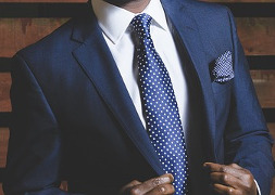 man wearing suit