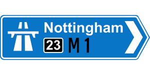 Motorway sign in England