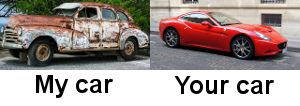 my car and your car