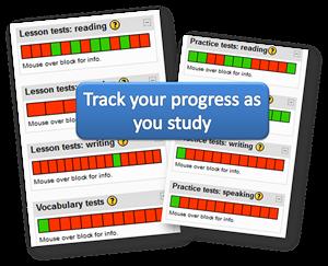 IELTS track your progress